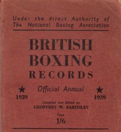 1939 boxing records book