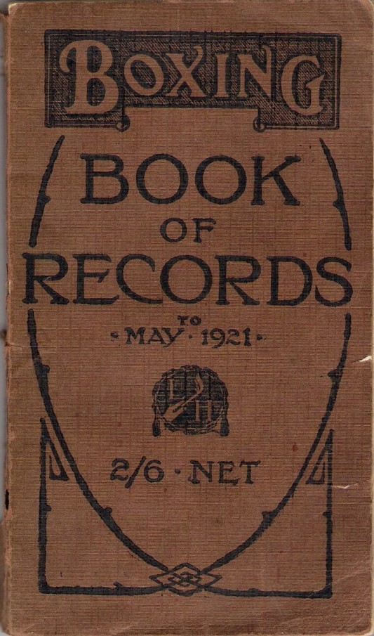 'Boxing Book of Records' (1921)